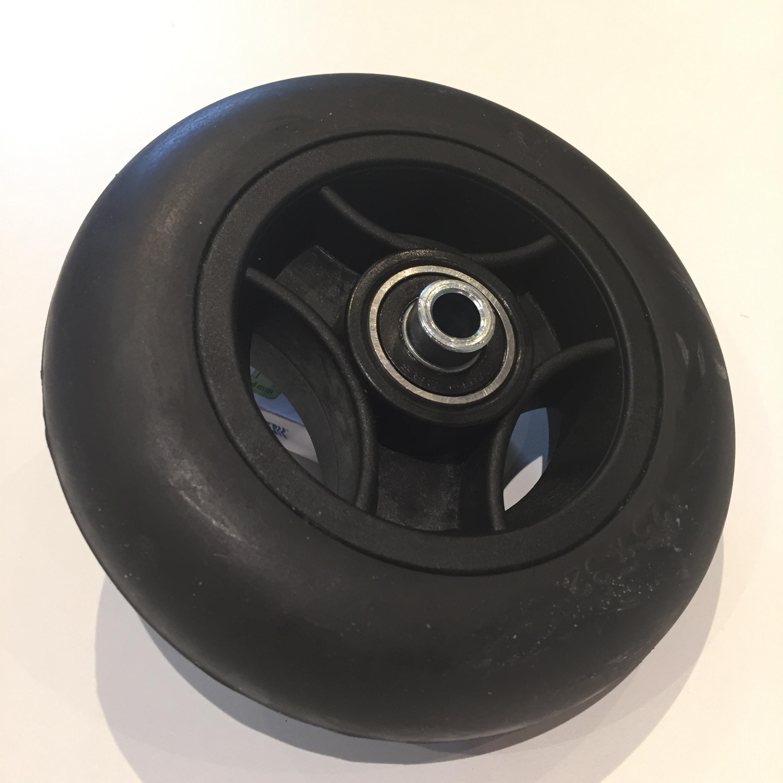 Roue bandage ca noir 125 x 32 jante noire pour fourche for Diametre exterieur pneu